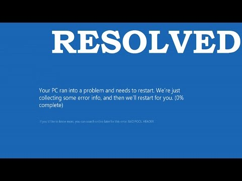 Resolving The Bad_Pool_Header Blue Screen Error In Windows 10