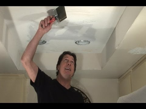 (Part 2) Remove Florescent + Replace w/ Recessed Lights