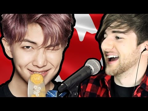 Canadian Tries To Sing K-POP | (BTS Cypher 4!!)