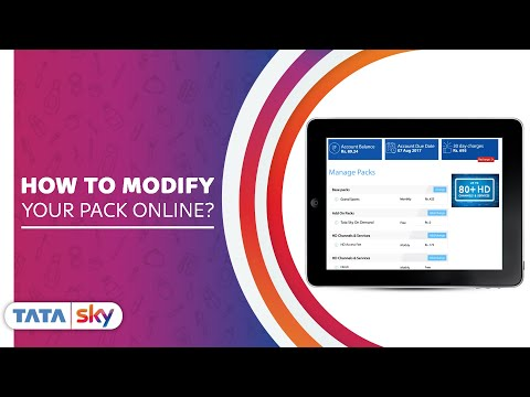 Tata Sky | DIY - How to modify your pack online?
