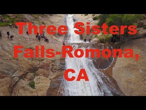 Three Sisters Falls - Romona, California 4K