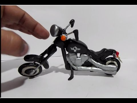 How to make clay Motorbike - Mini homemade Motorcycle