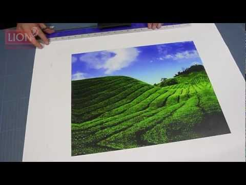 Stretching an Inkjet Canvas using Stretcher Bars