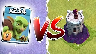 Clash Of Clans 🔸ALL GOBLINS Vs. WIZARD TOWER!!🔸Merry Grinchmas!!