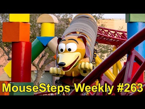 MouseSteps Weekly #263 Slinky Dog Coaster & Woody's Lunch Box Menu; DLP TOT Party; HKDL; Polite Pig