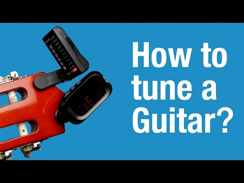 How to Tune a Guitar (with an electronic tuner)