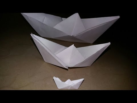How to make paper boat-origami that floats