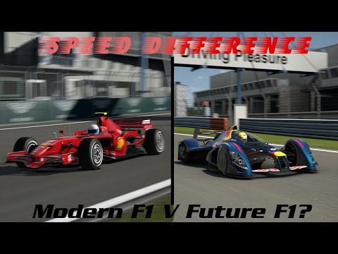 Speed Difference - Gran Turismo 5: Modern F1 V Future F1?