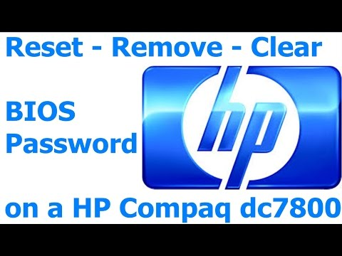 #052 How to Remove - Reset  - Clear BIOS Password on a HP Compaq dc7800