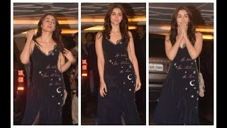 LIVE : Alia Bhatt Looks STUNNING At Priyanka Chopra Nick Jonas Engagement Party