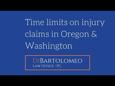 Time Limits on Injury Claims In Oregon and Washington