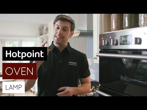 How to replace the oven lamp   by Hotpoint