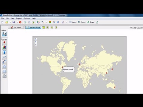 Easily Create an Interactive Map in iMapBuilder HTML5