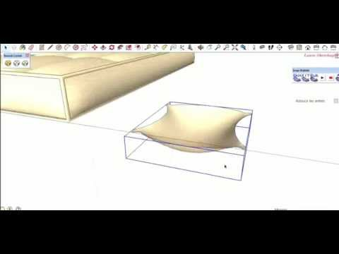 Bed & Pillows SketchUp Tutorial (Bubble)