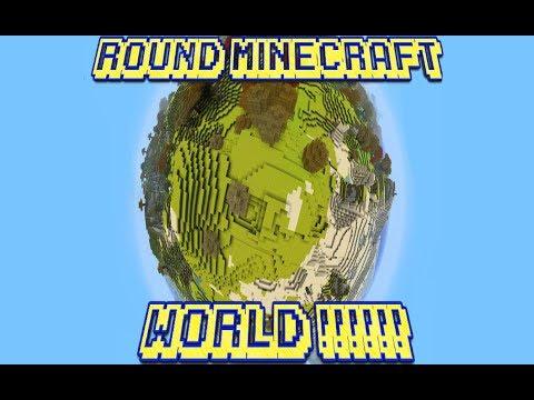 What if Minecraft was round ? 🤔🤩🤩