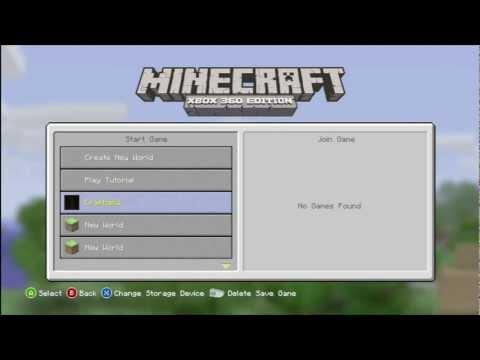 Minecraft Xbox360 How To Share Worlds + Awesome World Download