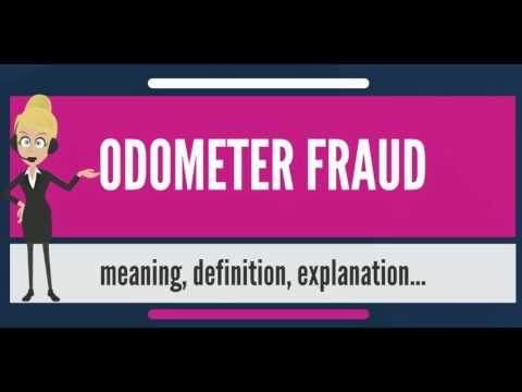 What is ODOMETER FRAUD? What does ODOMETER FRAUD mean? ODOMETER FRAUD meaning & explanation