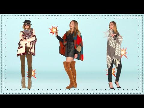 3 Ways to Wear a Poncho