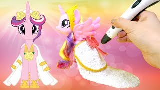 Princess Cadance Wedding Dress Dikale 3D Pen MLP Custom DIY