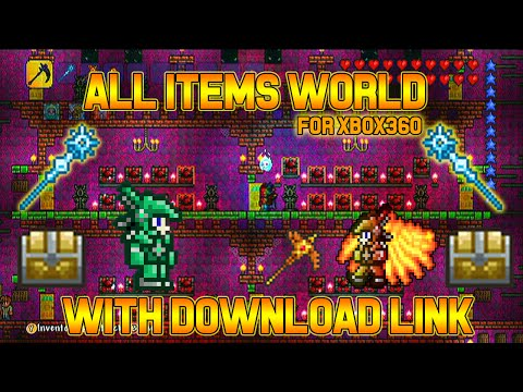 Xbox Terraria - All Items Map - With Modded Items (1.3) And Download Link!