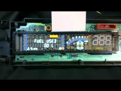 Renault Scenic instrument cluster test