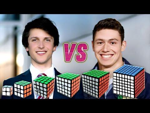 Rubik's Cube World Record Race Kevin VS Feliks VS WCA Records VS Best Of Feliks And Kevin