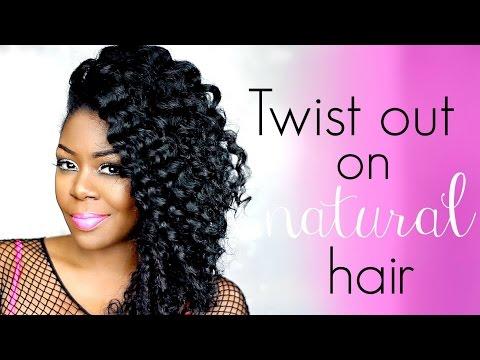 3 flat twist on Natural hair -  Hair maintenance + night time routine
