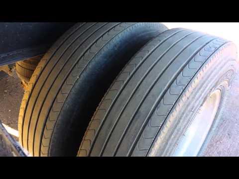 Flatbed Trailer Spread Axle Tire Wear