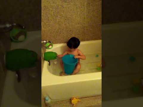 Bath time after poop