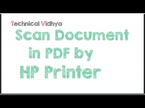 Scan Document in  PDF by HP Printer