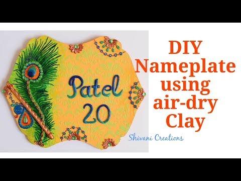 DIY Nameplate using Shilpkar Clay/ How to make Nameplate at home