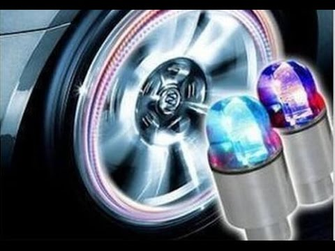 Colorful Growing Bike Car Tyre Valve Caps Led Bicycle Wheel Tire Light  XIE SHENG