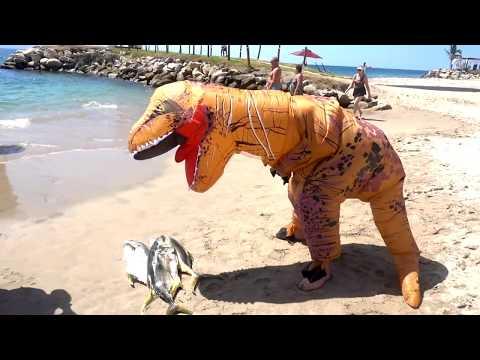T-REX Dinosaur On The Beach