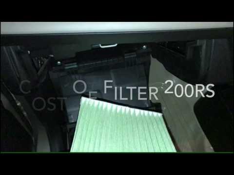 Suzuki Wagon R Cabin Filter Installation