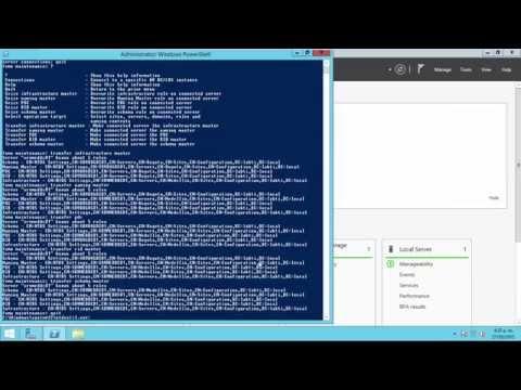 Transferir Roles FSMO en Windows Server 2012