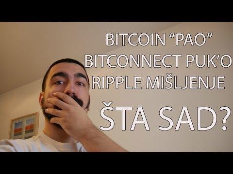 Bitcoin Pad | Bitconnect Puk'o | Ripple Mišljenje | Šta raditi kad sve pada?