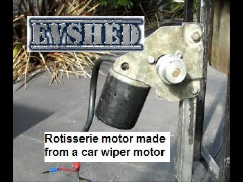 Rotisserie motor made from a car wiper motor
