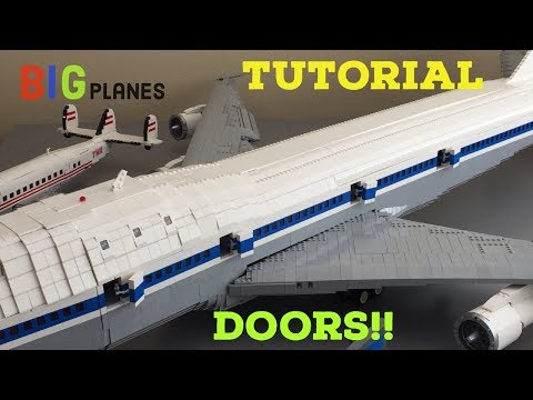 How to build lego airplane doors!!