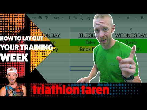 EXACT STEPS Triathlon Taren lay out his TRIATHLON TRAINING PLAN week by week