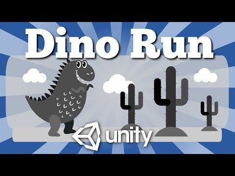 How To Make Simple Dinosaur Run Game (T-Rex Chrome Game Clone) For Android In Unity?