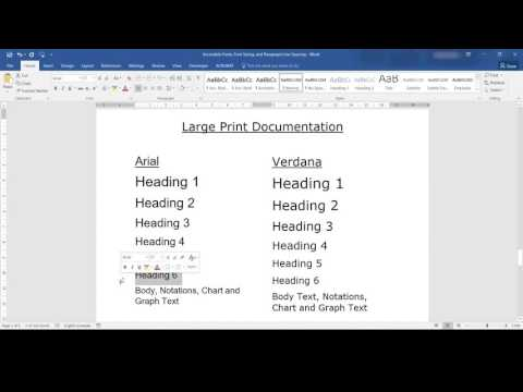 Accessible Fonts, Font Size and Line Spacing in Microsoft Word