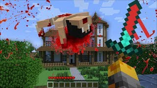 GIANT BLOOD MONSTERS APPEAR IN MY HOUSE IN MINECRAFT !! Minecraft Mods
