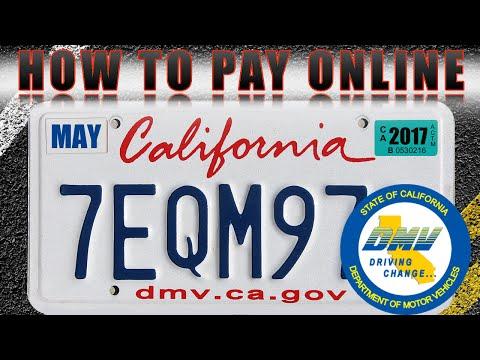 Como pagar placas en linea DMV California 🚙  🇺🇸  👍🏻