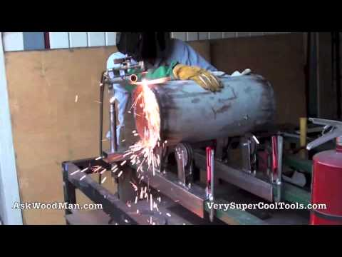 Cutting Torch 3 of 3: Oxy Acetylene Torch Holder / Pipe Rolling System