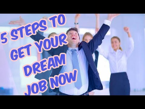 5 STEPS TO GET YOUR DREAM JOB USING LAW OF ATTRACTION IN HINDI,EXTREMLY POWERFUL PROCESS