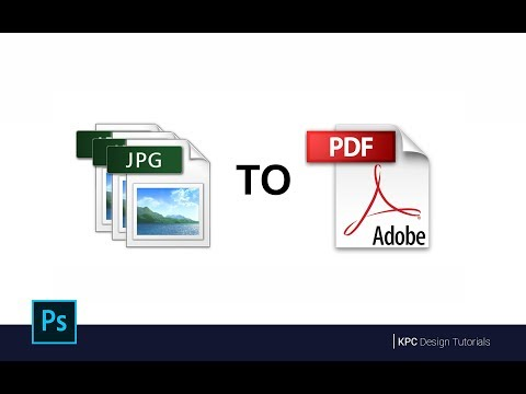 How To Save Multi-Page PDF File from a JPG file in Adobe Photoshop