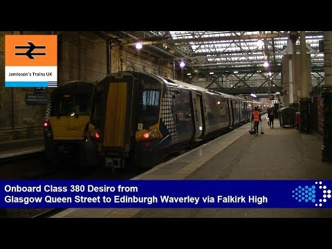 Onboard Class 380 Desiro from Glasgow Queen Street to Edinburgh Waverley via Falkirk High