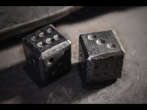 Making steel dice and wooden carrying box