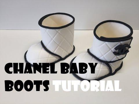 CHANEL GUMPASTE BABY BOOTS TUTORIAL