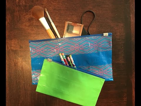 How to make Duct Tape Slider Pouch - Back to school